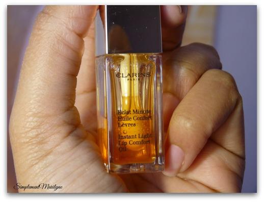 éclat minute confort clarins huile soin lèvres honey miel raspberry bijou simplement marilyne