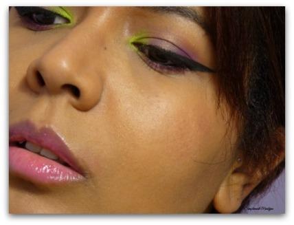makeup eyebrow eyeliner mascara Maquillage yeux jaune violet liner sleek acid kiko pigment msc monday shadow challenge simplement marilyne