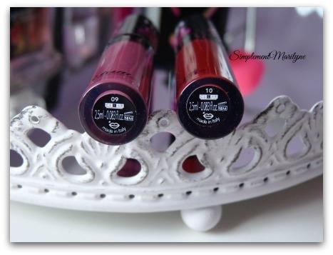 Rouge à lèvres liquide Etam lady burgundy bloody mary porte baiser