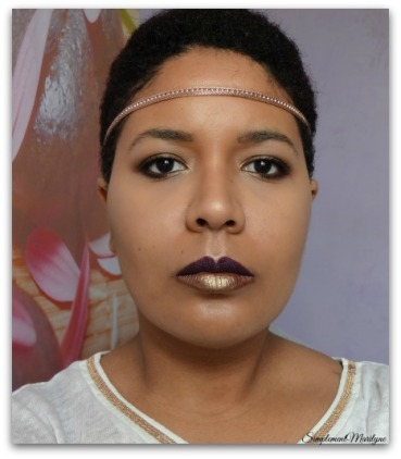 Bronze-sur-msc Maquillage-yeux-bronze msc monday shadow challenge simplement marilyne young punk ral lips levres violet