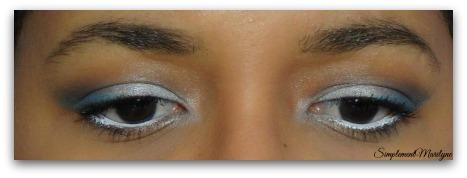 maquillage-blanc-bleu MSC Monday shadow challenge makeup bleu blanc milk nyx coastal scents simplement marilyne simplementmarilyne