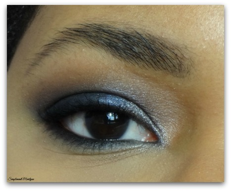 Monday shadow challenge MSC bleu navy mauqillage yeux makeup palette sleek badgirl simplement marilyne