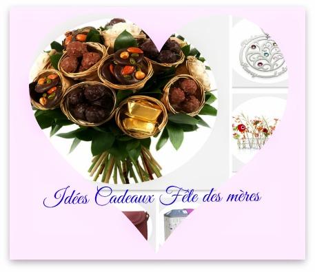 idées cadeaux fete des mères diy chocolat fleurs bijoux sac vase parfum coussin amour aime maman