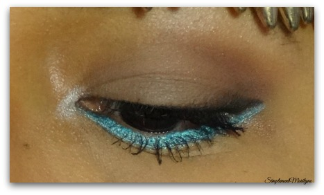 Makeup yeux turquoise msc Monday shadow challenge crayon electric ud zoeva palette maquillage simplement marilyne
