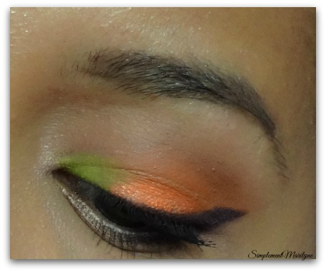 orange-monday-shadow-challenge msc maquillage yeux jaune liner simplement marilyne