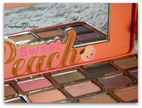 fard à paupières peach-too-faced sephora Sweet peach too faced palette maquillage swatch revue simplement marilyne makeup avis