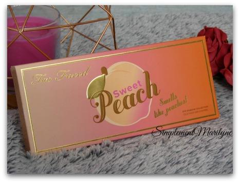 fard à paupières sephora Sweet peach too faced palette maquillage swatch revue simplement marilyne makeup avis
