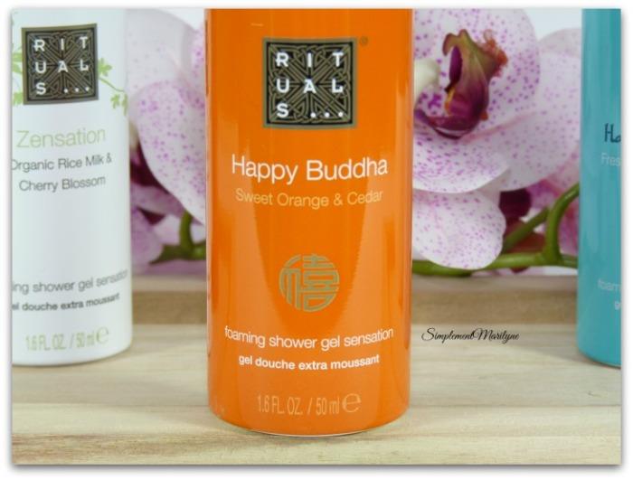 Yogi flow Happy buddha Zensation Hammam delight Rotuals mousse de douche gel produit corps simplement marilyne
