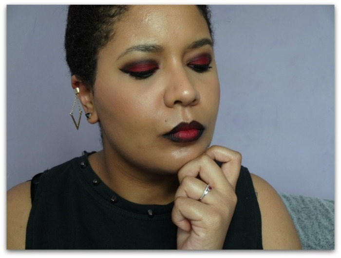 maquillage msc rouge monday shadow challenge ombre lips Simplement Marilyne