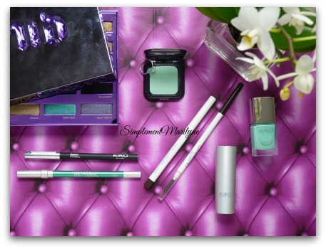 makeup urban decay kiko vernis colourpop crayon palette simplement marilyne monday shadow challenge vert d'eau