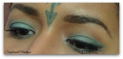 maquillage vert d'eau msc monday shadow challenge colourpop urban decay simplement marilyne