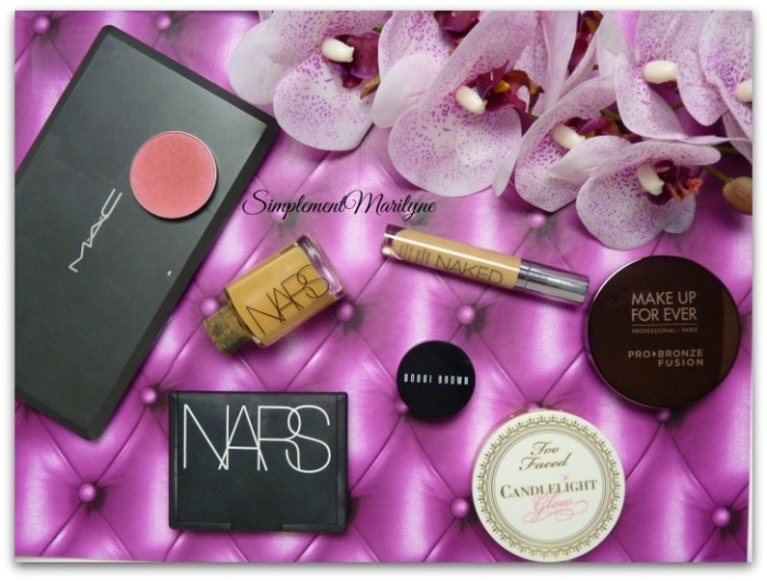 Simplement Marilyne msc monday shadow challenge dollymix blush mac nars urban decay candelight glow too faced make up for ever