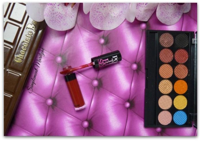 porte-baiser rouge burgundy etam sleek sunset too faced chocolate bar maquillage msc monday shadow challenge Simplement Marilyne