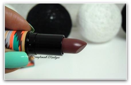 Hot chocolate raisin mac rouge à lèvres lipstick simplement marilyne
