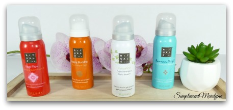 Rituals mousse douche mini Yogi flow happy buddha zensation hammam delight produit corps gel douche simplement marilyne