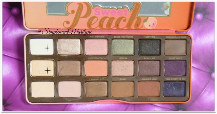 monday shadow challenge too faced sweet peach palette maquillage simplement marilyne