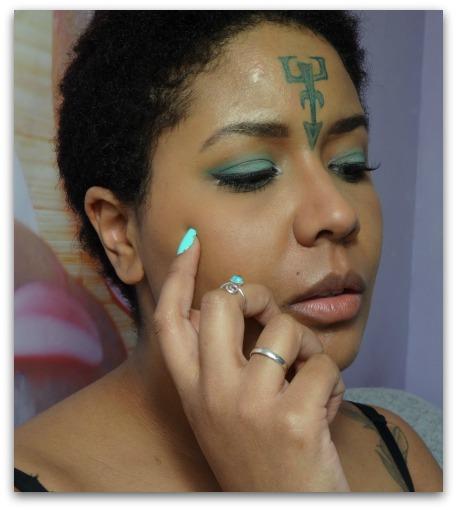 maquillage vert d\u0027eau msc monday shadow challenge colourpop urban decay  simplement marilyne rune elfique