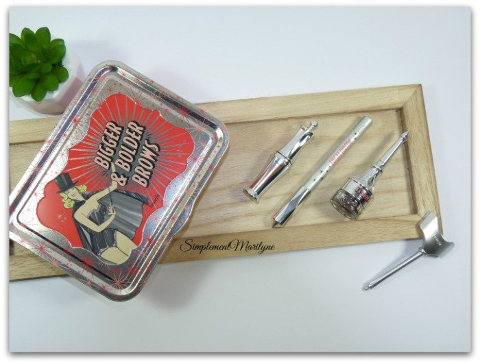 Bigger & bolder brows Accessoires et produits sourcils benefit ka-brow high brow ready set brow kit magie simplement marilyne