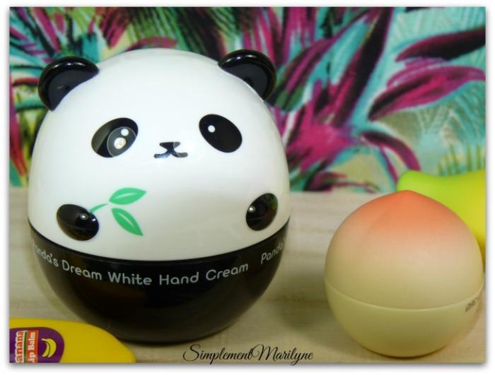 hand creme tonymoly panda creme mains haul sephora simplement marilyne peach baume lèvres