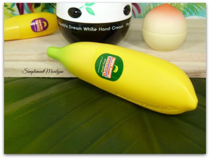 Hand milk banana tonymoly haul sephora banane simplement marilyne panda peach baume lèvres