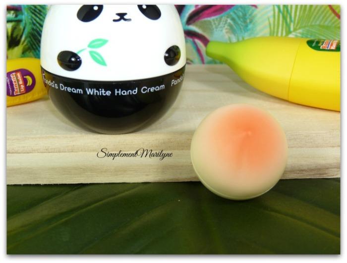 Lip balm peach tonymoly baume à lèvres peche haul sephora simplement marilyne panda mains