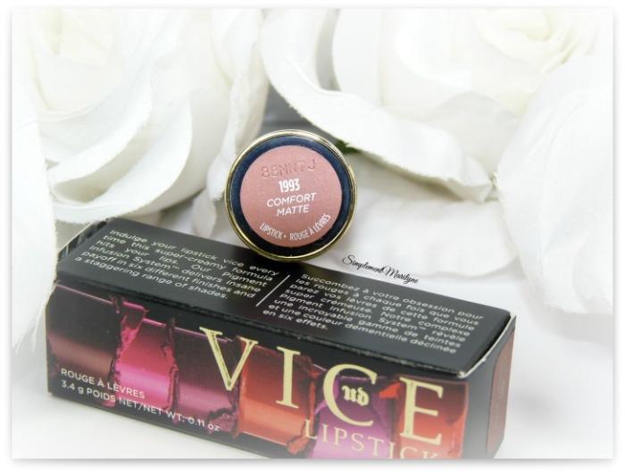 1993 comfort matte vice ud lipstick rouge à lèvres simplement marilyne