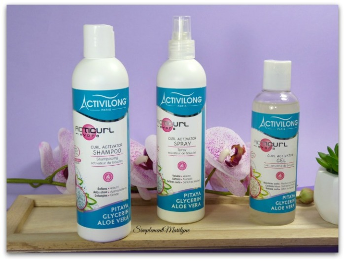 activilong activilong acticurl hydra shampooing spray gel co-wash leave-in simplement marilyne  pitaya glycerine aloe vera
