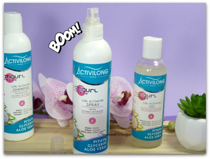 activilong acticurl hydra shampooing spray gel co-wash leave-in simplement marilyne  pitaya glycerine aloe vera