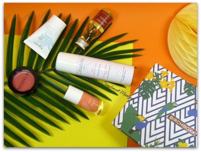 birchbox viva brasil été summer 2016 aout kadalys doux me naural brasil produits soins visage maquillage simplement marilyne