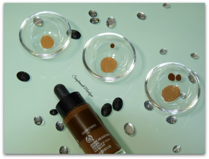créateur de teinte sur mesure Shade Adjusting Drops darkening foncer fond de teint the body shop simplement marilyne