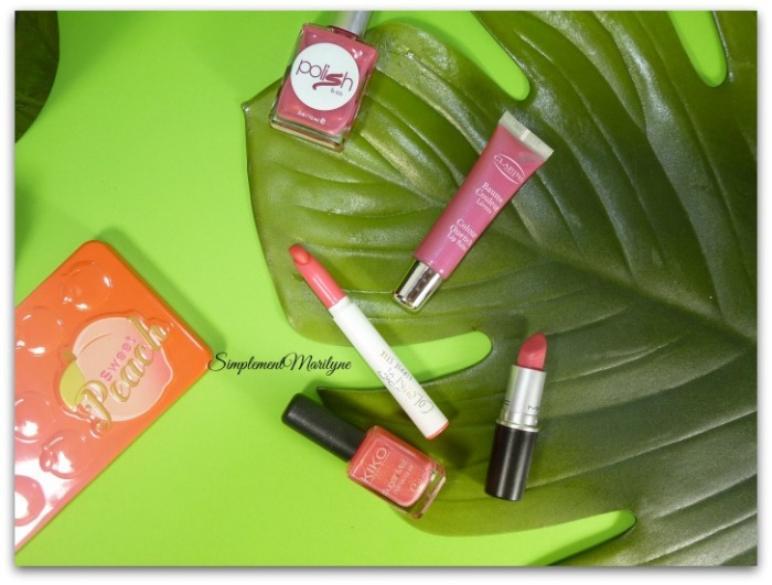 Favoris summer edition rals lipstick sweet peach clarins MAc lustering colourpop rocket sweet peach simplement marilyne