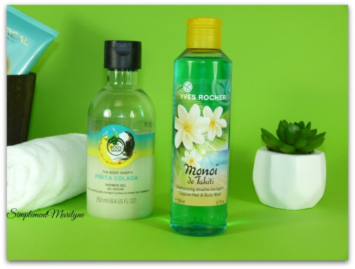 Favoris summer edition The-body shop Yves rocher monoï pinita colada simplement marilyne