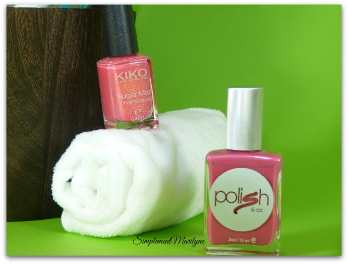 Favoris summer edition vernis kiko sugar mat Polish rose corail simplement marilyne