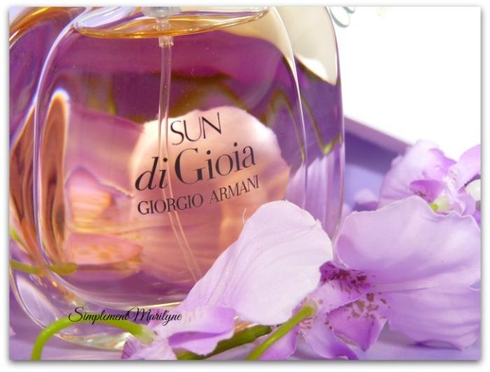 giorgio armani sun du gioia parfum été jus ambré floral oriental simplement marilyne