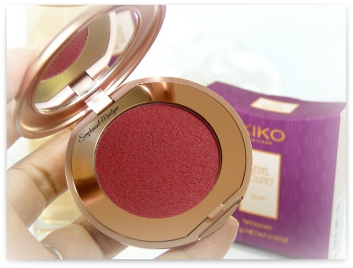 kiko milano blush rebel bouncy passion red wine fard à joue mat haul nouveauté simplement marilyne
