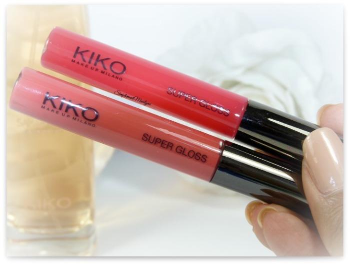 kiko milano super gloss 109 124 nouveautés haul non collant simplement marilyne
