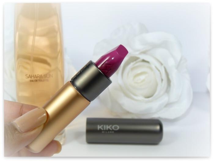 kiko milano velvet passion rouge à lèvres mat 314 nouveauté haul sahara sun parfum simplement marilyne