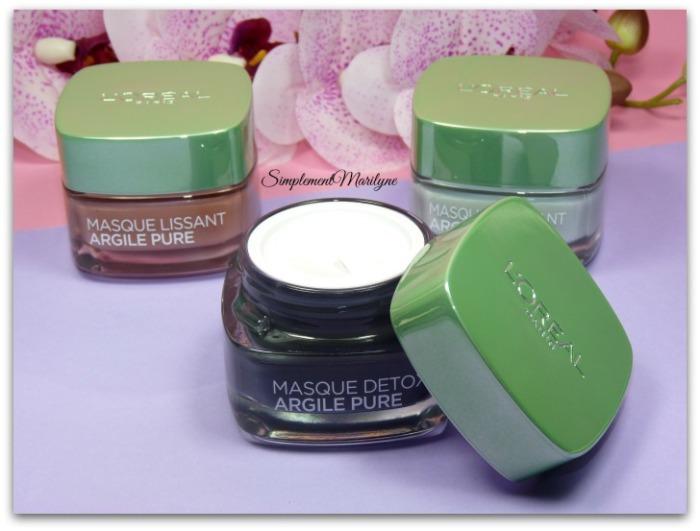 multi-masking masque-argile-pure-opercule masque argile pure detox purifiant lissant l'oréal skincare visage simplement marilyne