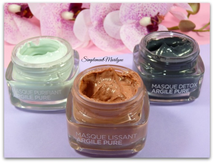 masque argile pure detox purifiant lissant l'oréal skincare visage simplement marilyne muliti-masking