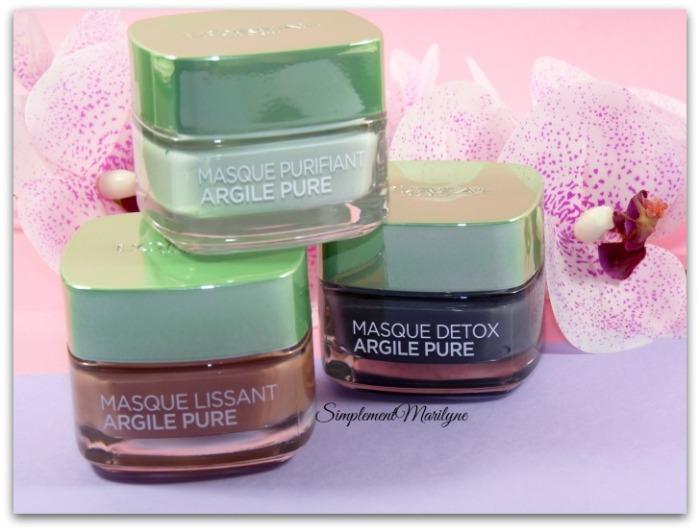 masque argile pure detox purifiant lissant l'oréal skincare visage multi-masking simplement marilyne