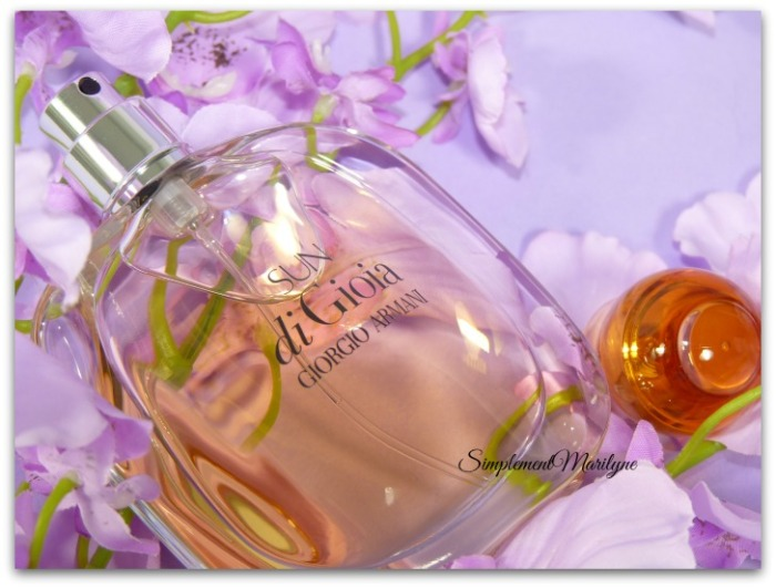 parfum sun di gioia armani giorgio été floral oriental jus ambré simplement marilyne