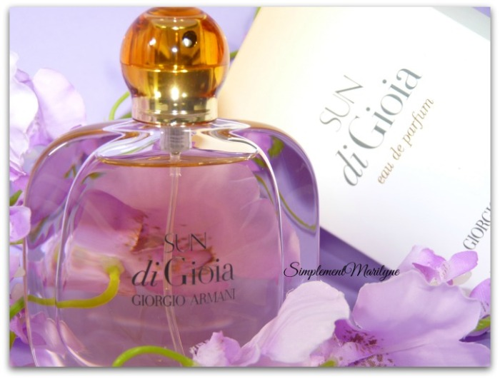 Sun di gioia giorgio armani parfum floral oriental été jus ambré monoï simplement marilyne
