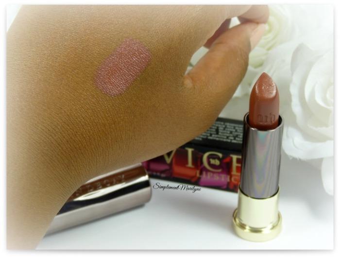 swatch ud lipstick vice 1993 rouge à lèvres urban decay comfort matte simplement marilyne