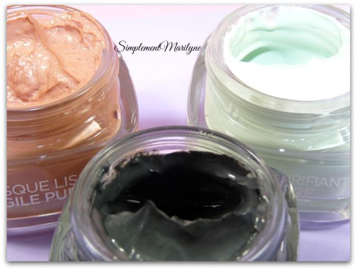 masque argile pure detox purifiant lissant l'oréal skincare visage simplement marilyne multi-masking