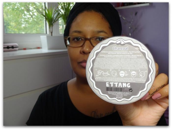 Masque modelant Ettang charcoal charbon visage skincare peau mixte grasse soin peau neuve simplement marilyne
