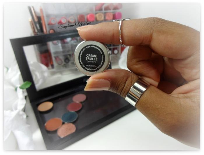 makeup geekcrème brulee eyeshadow pan z palette fard à paupière mug simplement marilyne