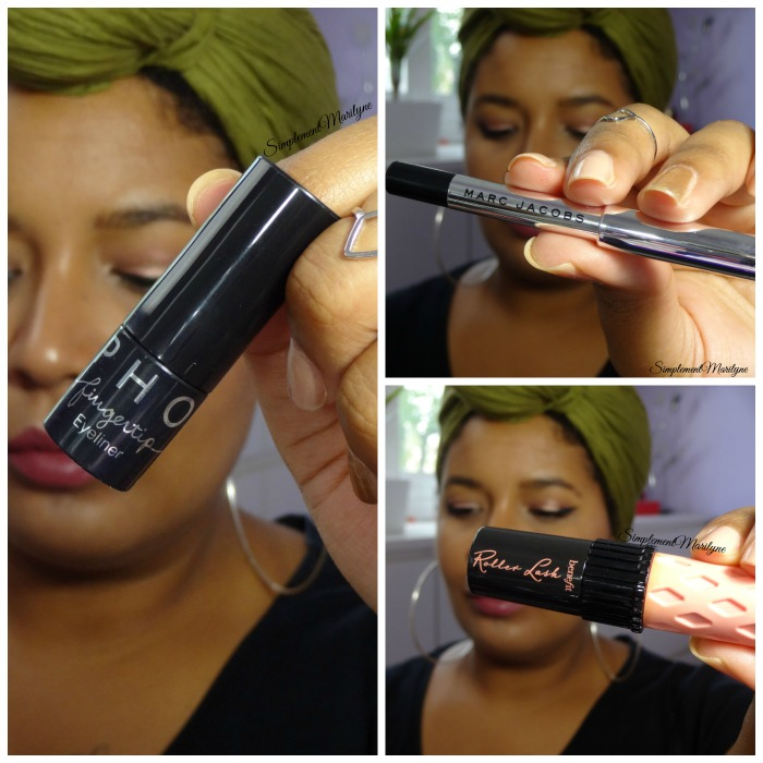 maquillage yeux makeup sephora marc jacobs Roller Lash benefit mascara crayon liner Fingertip Black Simplement marilyne