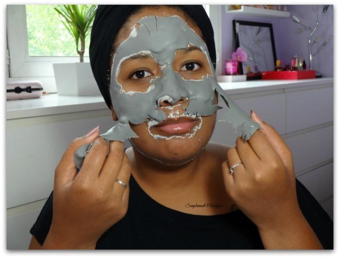 retrait Masque modelant Ettang charcoal charbon visage skincare peau mixte grasse soin peau neuve simplement marilyne