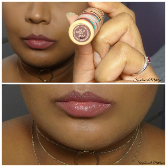 rouge ç lèvres hot chocolate mac lipstick simplement marilyne