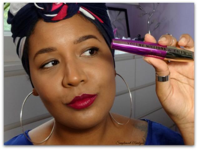 Mascara volume millions de cils fatale l'oréal paris sourcils ka-brow benefit lippie stix colourpop LBB maquillage makeup foulard simplement marilyne